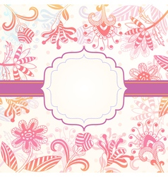 Decorative background with flowers vector image vector image
