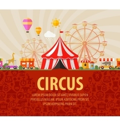 Funfair circus performance vector