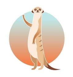 Greeting cartoon meerkat vector