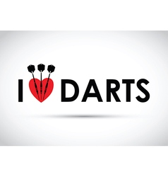 i love the darts vector image vector image