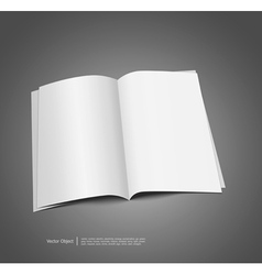 Magazine blank template vector