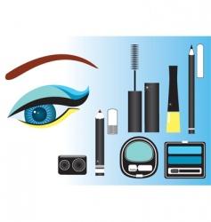 make up eye vector image