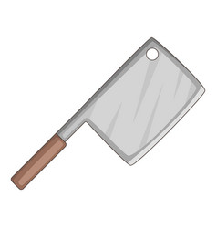 meat knife icon cartoon style vector image