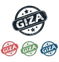 Round giza city stamp set vector