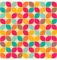 Rounded square retro pattern vector
