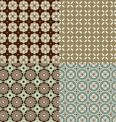 Seamless background patterns vector