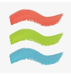 Set of colored paint-splatter vector
