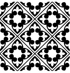 Spanish and portuguese tile pattern moroccan vector
