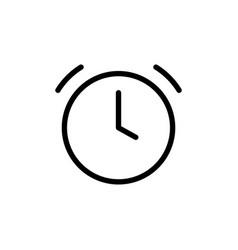 thin line clock alarm icon vector image