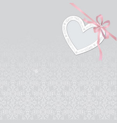 Valentines day gift card background love heart vector