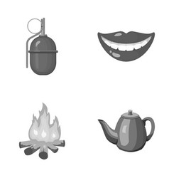 War tourism and other monochrome icon in cartoon vector