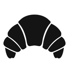 Croissant icon simple style vector