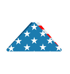 folded us flag triangle symbol of mourning vector image