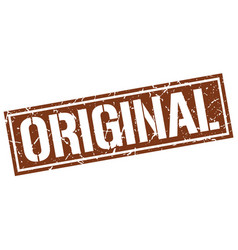 Original square grunge stamp vector