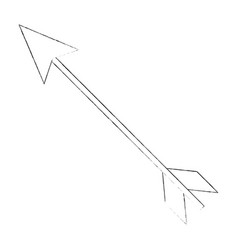 romantic bow arrow vector image