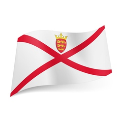 Flag of jersey vector