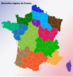 New french regions nouvelles regions de france vector
