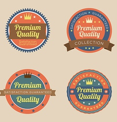 Set of vintage retro badge vector