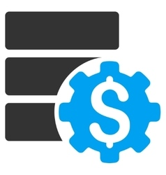 Bank database options icon vector