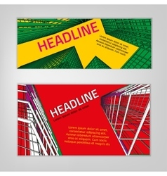 Business city banners vector