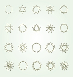 Polygons and polygrams sacred geometry set vector