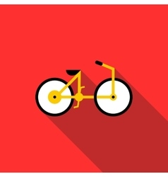 Bicycle icon flat style vector