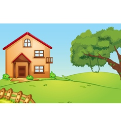 House in nature vector