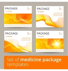Set of medicine package design with 3d-template vector