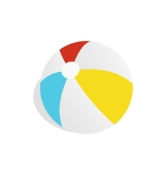 Colorful ball icon isometric 3d style vector