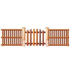 A wooden barricade vector