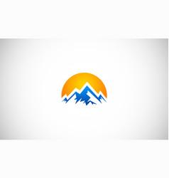 Abstract high mountain logo vector