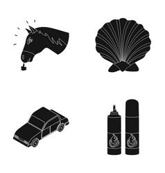Animal transport and or web icon in black style vector