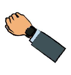 arm hand watch sport design vector image