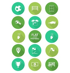 Basic soccer or football icons set in flat design vector