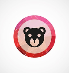 Bear toy circle pink triangle background icon vector
