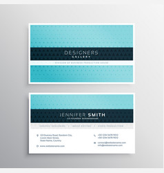 Blue company business card with small triangle vector