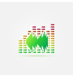 Bright music sound icon vector image