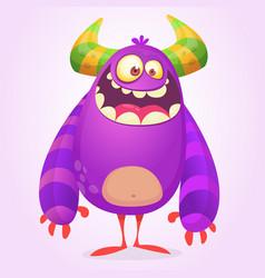 Cute cartoon fat monster vector