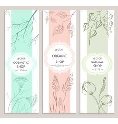 Decorative floral botanical banner vector
