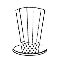 Figure usa hat to patritism celebration design vector