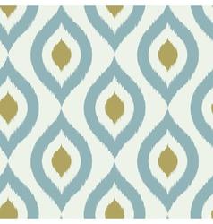 Geometric retro ikat tribal seamless pattern vector