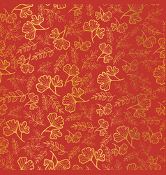 golden and orange leaves texture seamless vector image vector image