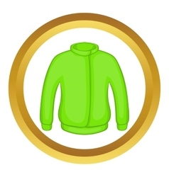 Green paintball jacket icon vector