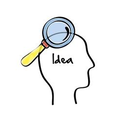 Idea design sketch icon white background vector