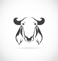 image of cow head vector image vector image