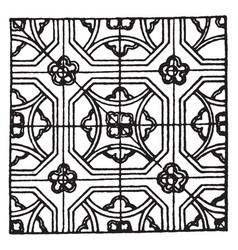 Medieval enamel pattern is a design that uses vector
