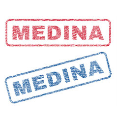 medina textile stamps vector image vector image