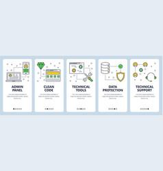 Modern thin line admin panel concept web vector