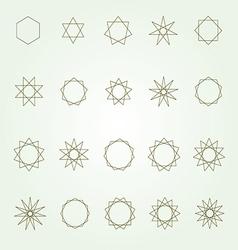 Polygons and polygrams sacred geometry set vector