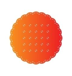 Pyramid sign orange applique vector